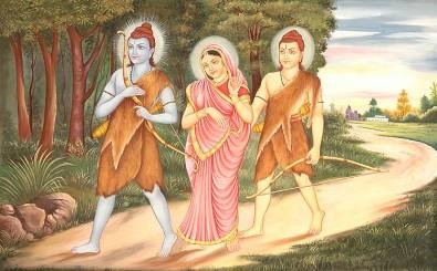 lord_rama_sita_and_lakshmana_in_exile_wk62